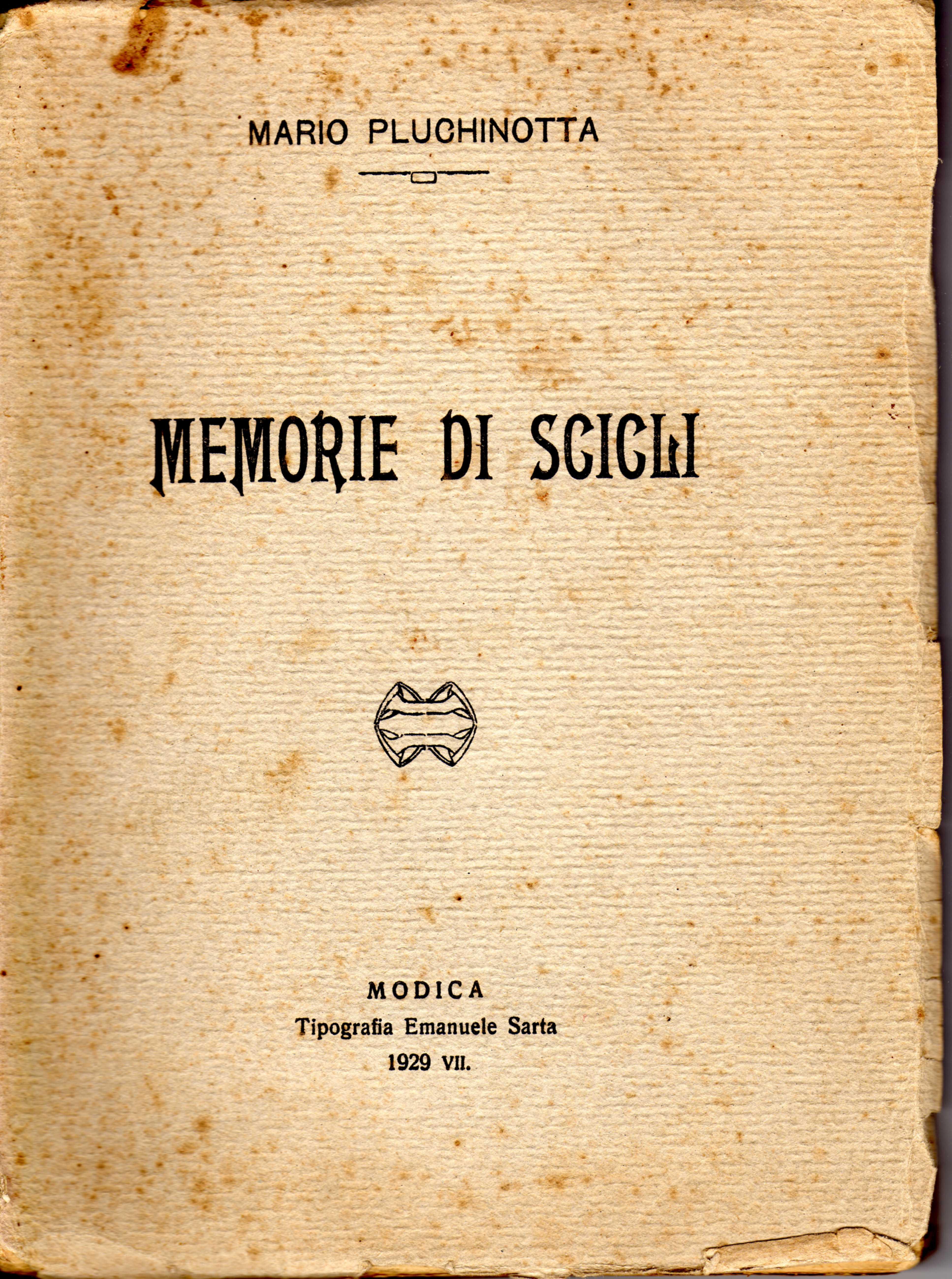 Memorie di Scicli