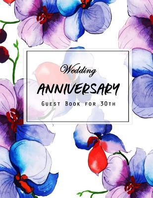 Guest Book Wedding Anniversary  for 30th