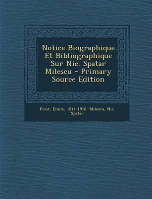 Notice Biographique ...