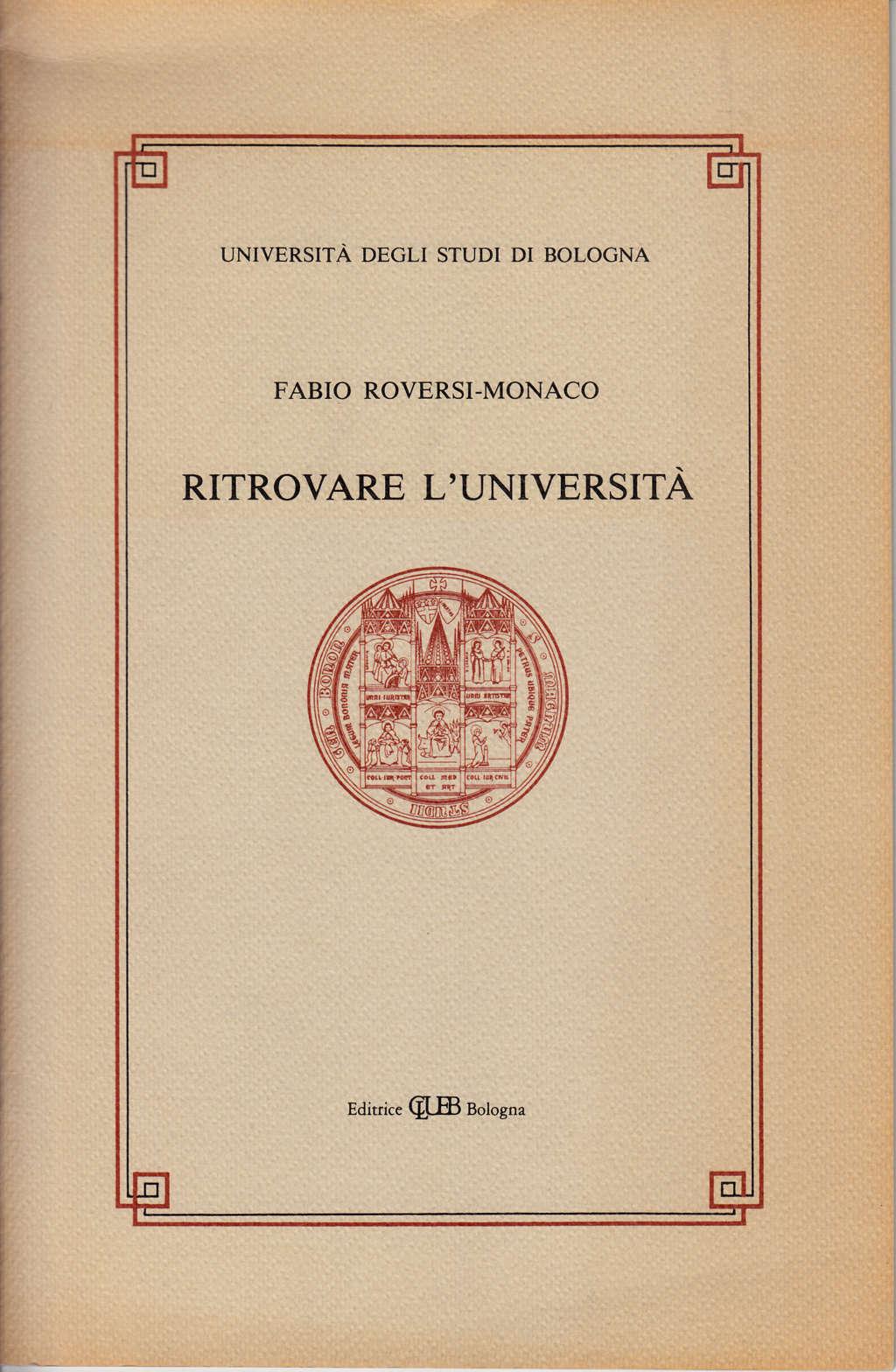 Ritrovare l'università