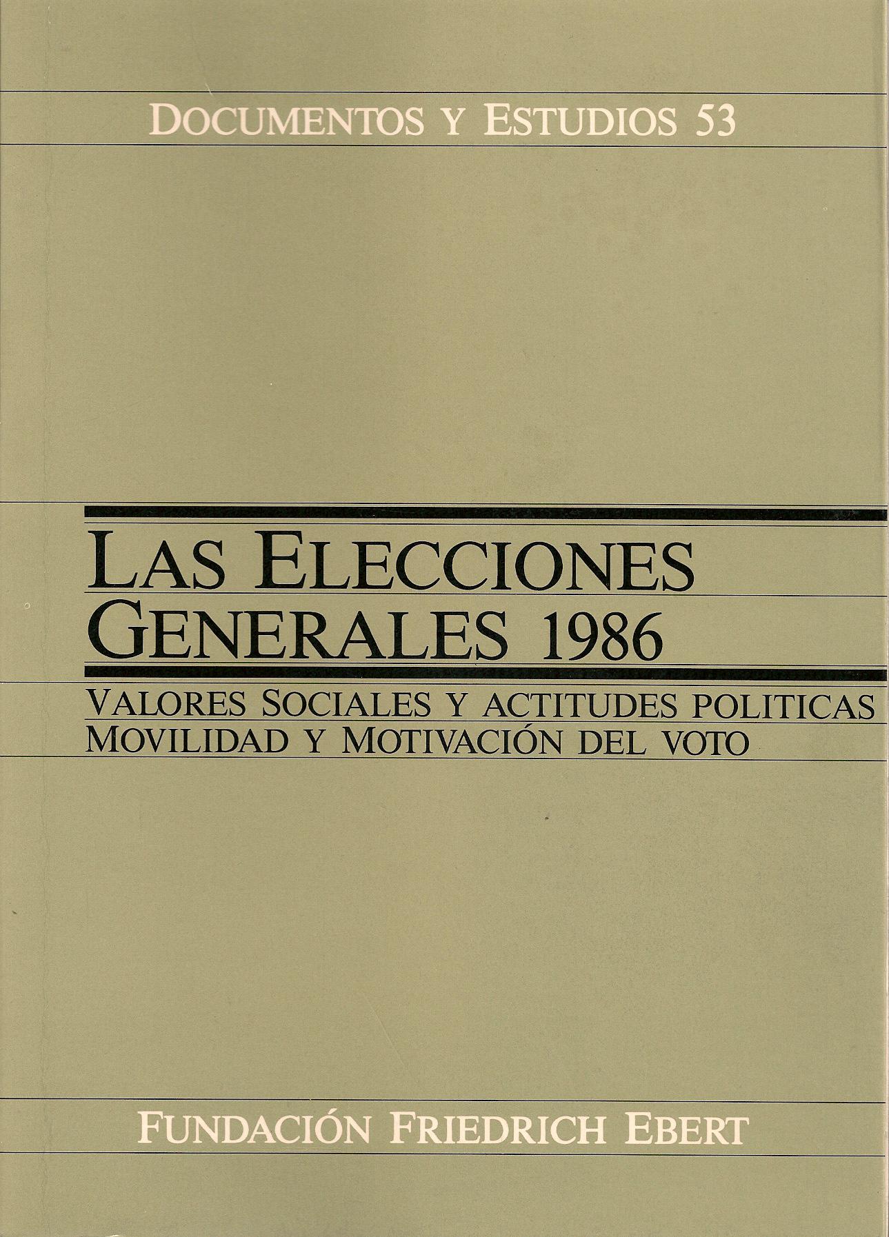 Las elecciones generales 1986