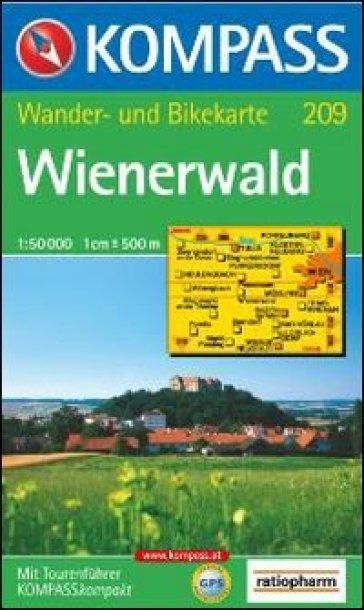 Carta escursionistica n. 209. Austria. Ad est delle Alpi. Vienna, Stiria... Wienerwald 1