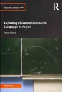 Exploring Classroom Discourse
