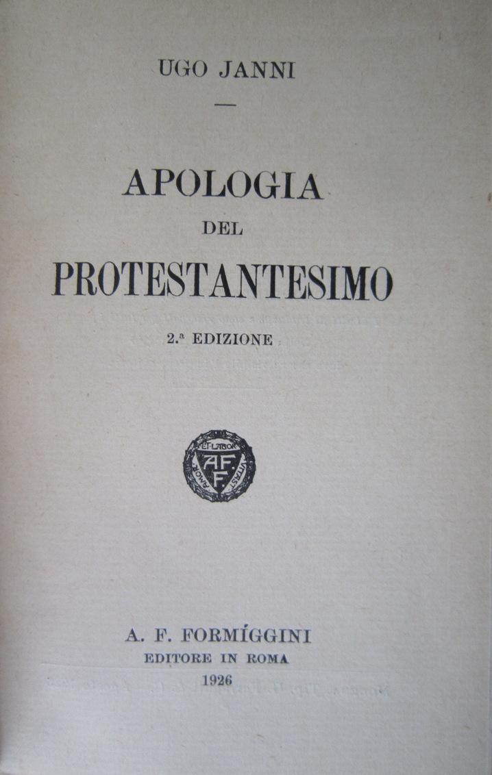 Apologia del protestantesimo