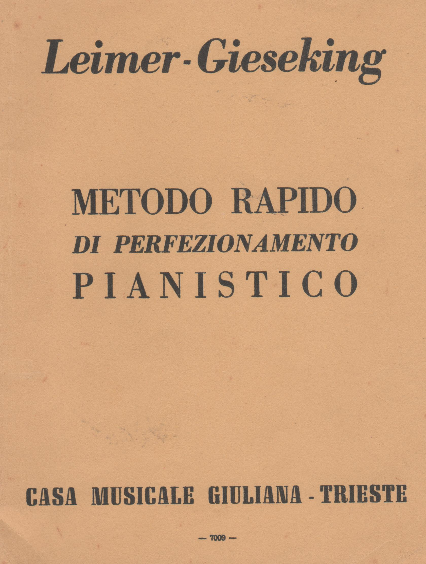 Metodo rapido di perfezionamento pianistico