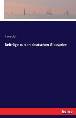 Beiträge zu den deutschen Glossarien