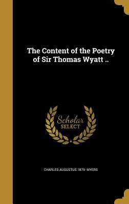 CONTENT OF THE POETRY OF SIR T