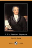 J. W. V. Goethe's Biographie(Dodo Press)