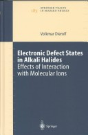 Electronic defect states in alkali halides