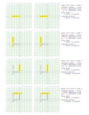 Fifty Scrabble Box Scores Games 1001-1050