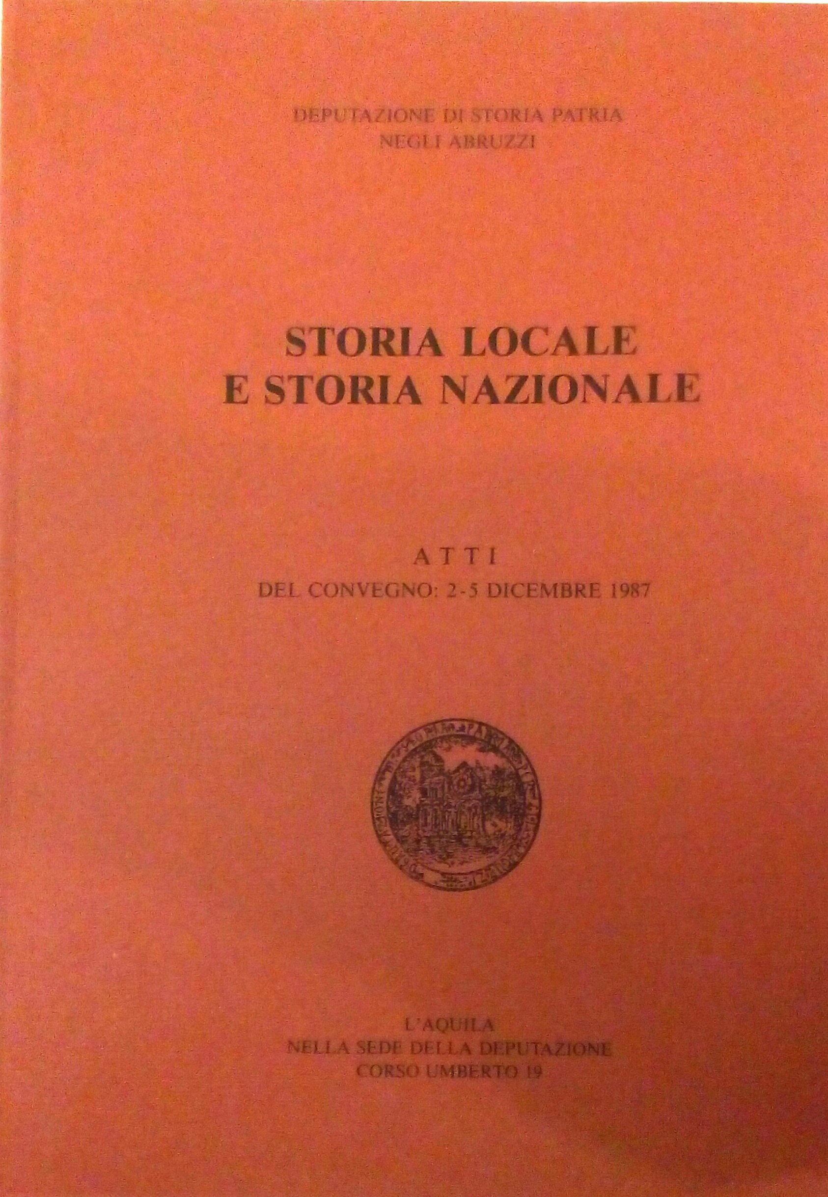 Storia locale e storia nazionale