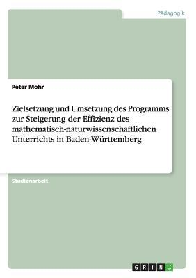 Zielsetzung und Umsetzung des Programms zur Steigerung der Effizienz des mathematisch-naturwissenschaftlichen Unterrichts in Baden-Württemberg
