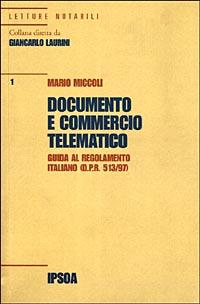Documento e commercio telematico