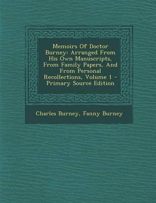 Memoirs of Doctor Burney