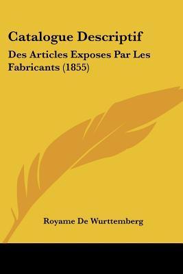 Catalogue Descriptif