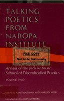 Talking Poetics from Naropa Institute