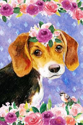 Journal Notebook For Dog Lovers Beagle Puppy In Flowers 1