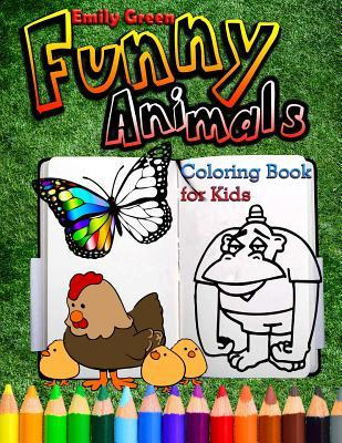 Funny Animals. Coloring Book for Kids