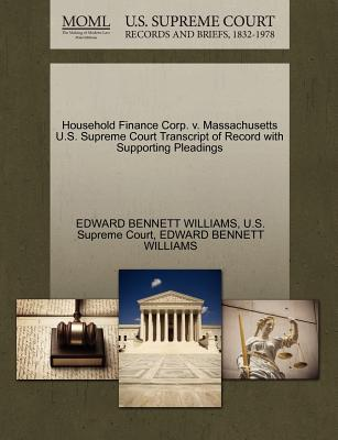 Household Finance Corp. V. Massachusetts U.S. Supreme Court Transcript of Record with Supporting Pleadings