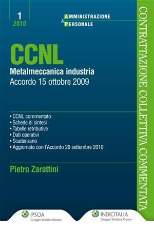 CCNL metalmeccanica industria. Accordo 15 ottobre 2009