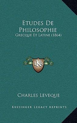 Etudes de Philosophi...