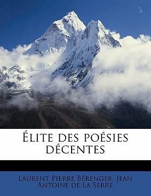 Elite Des Poesies Decentes