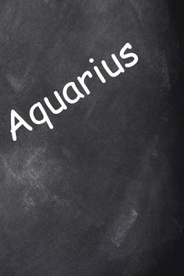 2019 Weekly Planner Aquarius Zodiac Horoscope Chalkboard 134 Pages