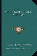 Mind, Motion and Monism