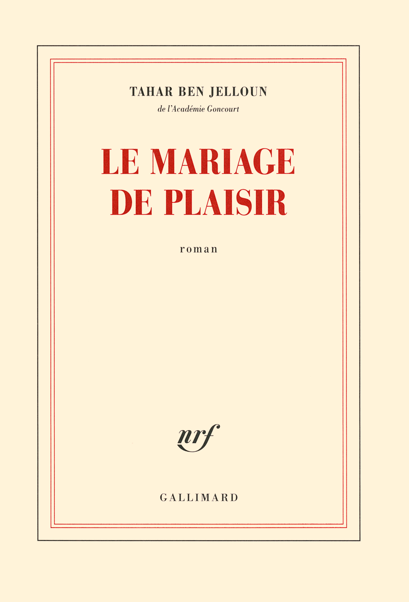 Le mariage de plaisi...