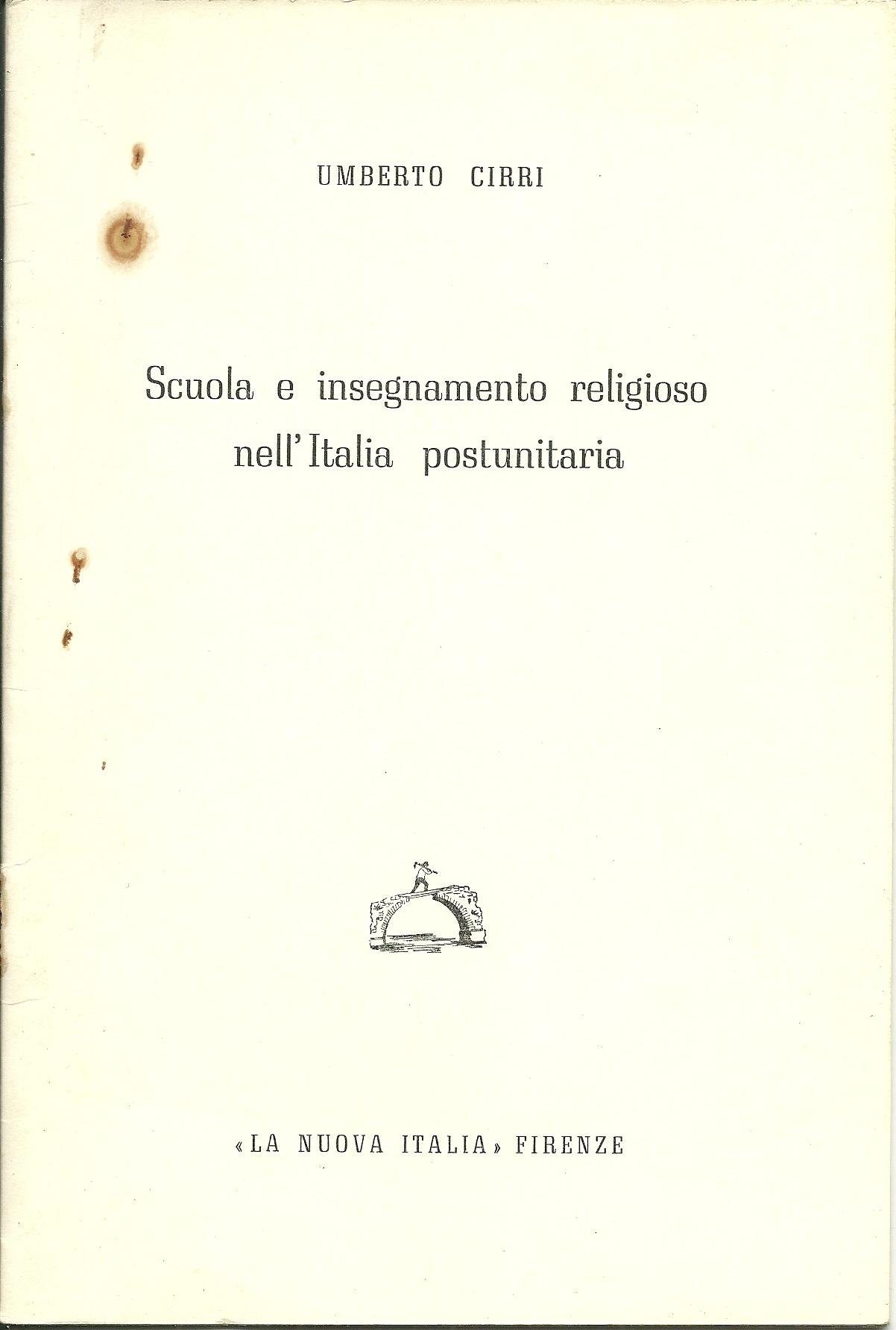Scuola e insegnamento religioso nell'Italia postunitaria