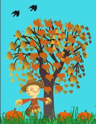 Fall Halloween Pumpkins And Scarecrows Journal Notebook