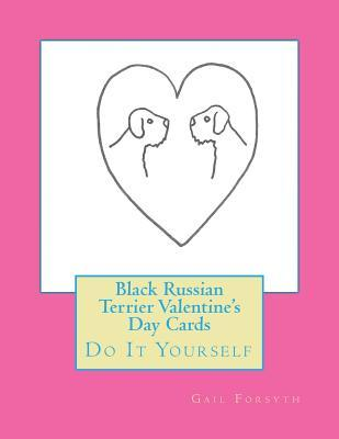 Black Russian Terrier Valentine's Day Cards