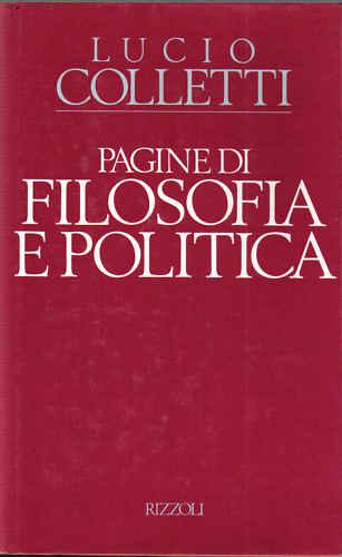 Pagine di filosofia e politica