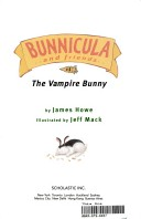 Bunnicula and Friends; the Vampire Bunny