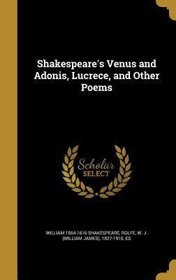 SHAKESPEARES VENUS & ADONIS LU