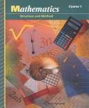Mathematics Structure and Method Course 1