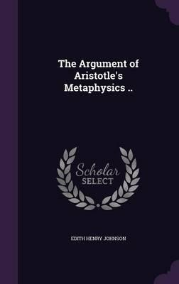 The Argument of Aristotle's Metaphysics