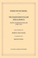 Husserliana, Band 36: Transzendentaler Idealismus