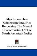 Algic Researches