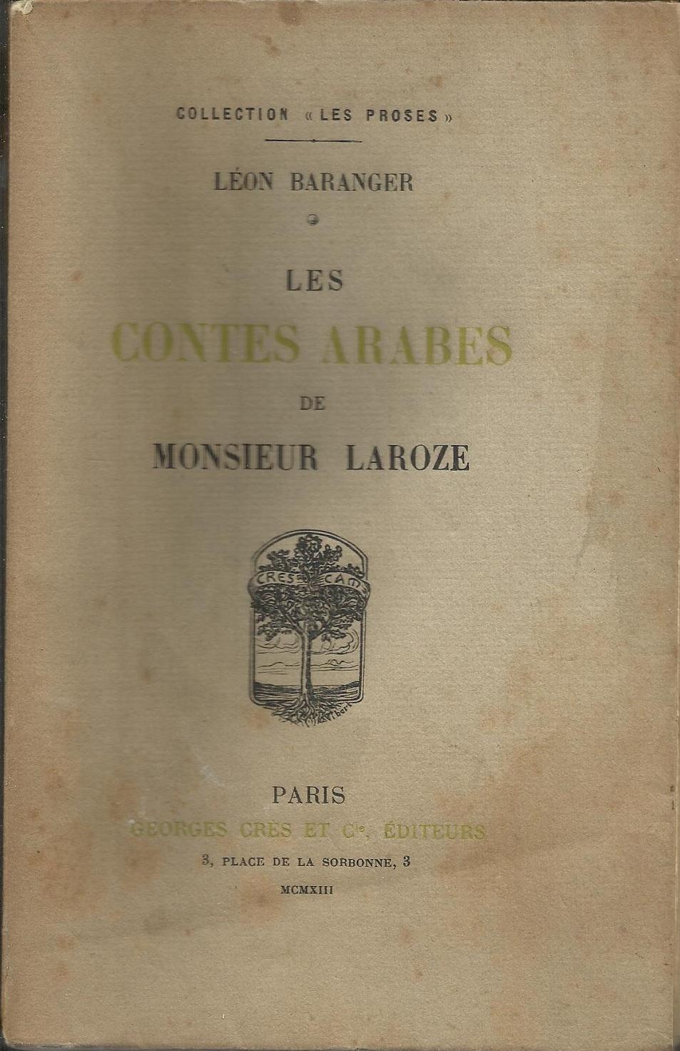 Les contes arabes de Monsieur Laroze