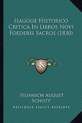 Isagoge Historico Critica in Libros Novi Foederis Sacros (1830)