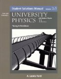 Student Solutions Manual Volumes 2&3 University Physics 11th Edition