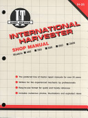 International Harvester Shop Manual IH-25: