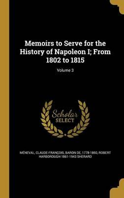 MEMOIRS TO SERVE FOR THE HIST