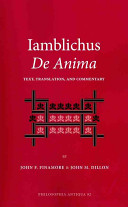 Iamblichus de Anima: Text, Translation, and Commentary