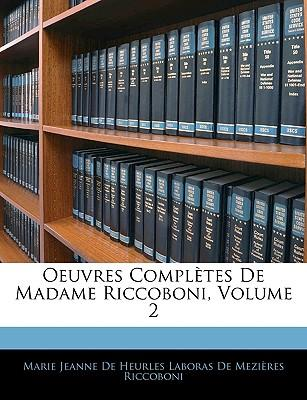 Oeuvres Compltes de Madame Riccoboni, Volume 2