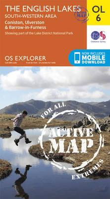 OS Explorer ACTIVE OL6 The English Lakes  South Western area