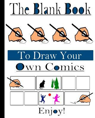 """8"""" x 10"""" Blank Book To Draw Your Own Comics. 120 Pages With Panels To Draw."""