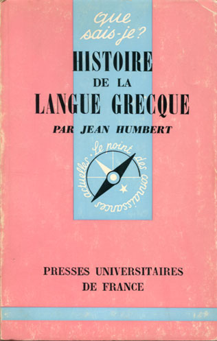 Histoire de la langue grecque