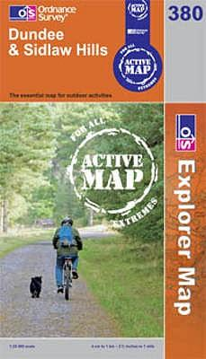 Dundee and Sidlaw Hills (OS Explorer Map Active)